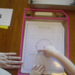 Child Learning cursive