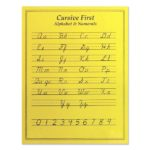 Laminated Cursive First Chart